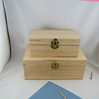 Boite coffre en bois à décorer à peindre 15 x 20 cm