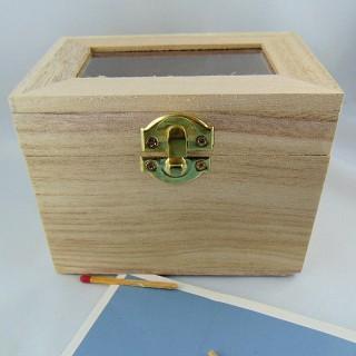 Boite coffre en bois à décorer à peindre 9 x 13 cm