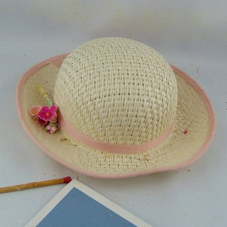 Straw hat 18 inches doll