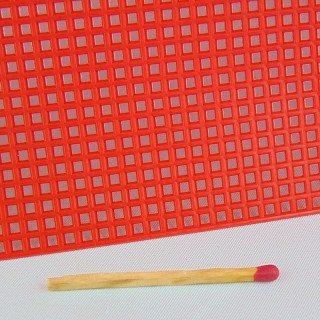 Sheet of perforated plastic for 3D embroidery