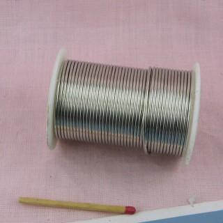 Carrete alambre de plata 2 mm joyería 9 m