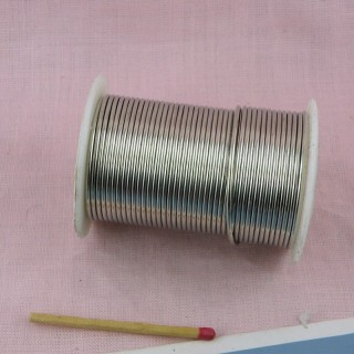 Metallic zig zag bullion wire thread for jewelry making 0,45 mm sell by meter