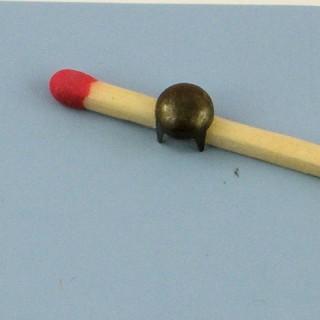 Metal small round studs