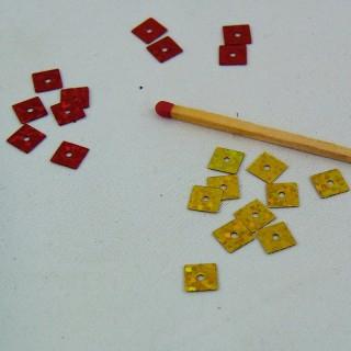 Sachet de sequins carrés métallisés en mélange 9 g