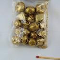 Grelots miniatures métal doré scintillant tailles assorties