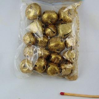Golden, silvered Jingle Bells 10 mms.