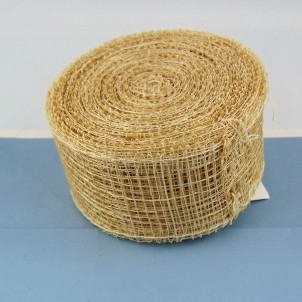 Ruban décoratif Sinamay  rouleau 4 cm.