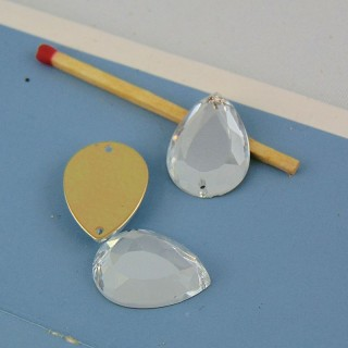 3 stones in glass sewing  17 mm