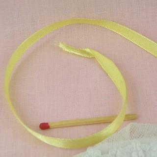 Ruban fin taffetas synthétique, 6 mm, 0,6 cm.