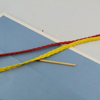 Flat braid bright 5 mm imitation leather