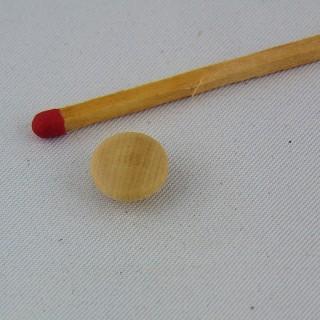 Bouton en bois rond à pied 9 mm
