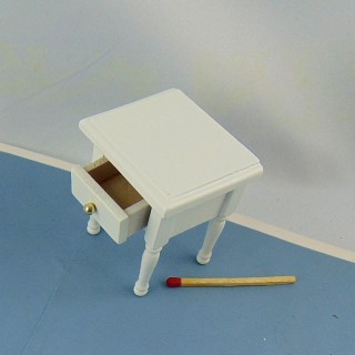 Miniaturtafel von Nacht Kopfende malt Holz 1 Schublade