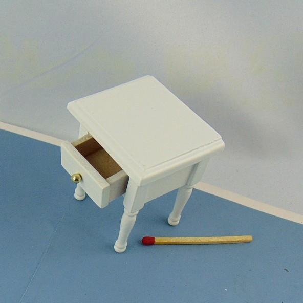 Tabla de noche cabecera miniatura madera pinta 1 cajón