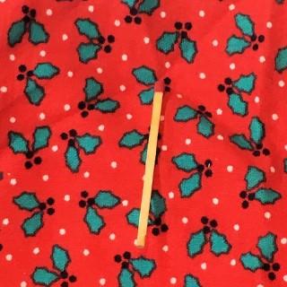 Coupon moltonné coton à fleurs DMC
