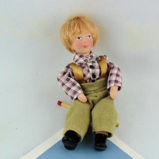 Garçon personnage masculin maison poupée 9 cm