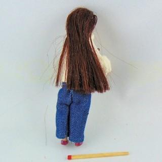 Poupée dame miniature 1/12eme