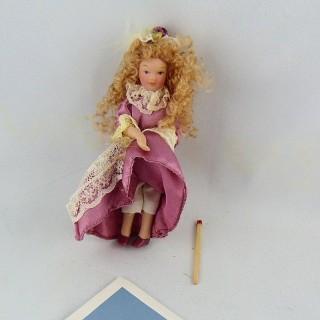 Poupée miniature 1/12 fille 11 cm