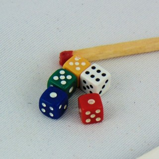 Dados que juegan miniatura muñeca 5 mm