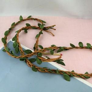 Feuilles synthetiques tissu en ruban par 10 cm