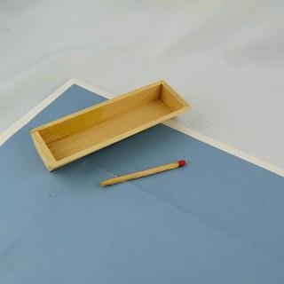 Bote miniatura madera tapa casa de muñecas