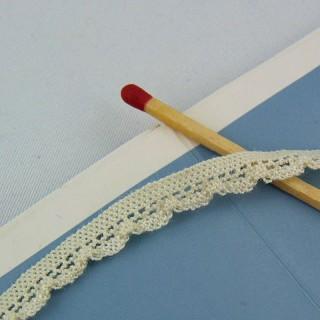 Elastische Baumwolle Spitze 7 mm pro Meter verkauft