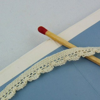 Stretch Cotton lace 7 mm sell by meter