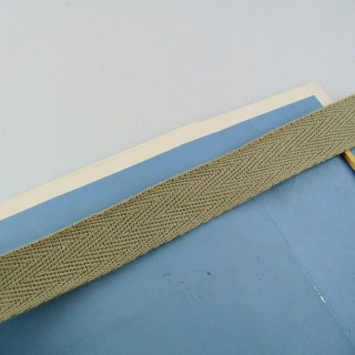 Luxurous cotton ribbon, 1 cm, 10 mm.