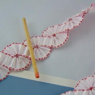 Trenza de cinta plisada al medidor 2 cm