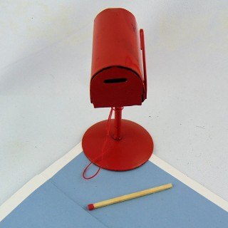 Red Metal stand letter box for Doll House 8 cm