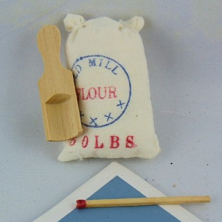 Cotton flour bag with food grocery measure
