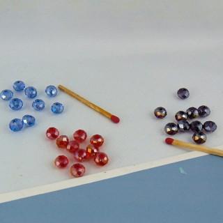 Perle cristal facettes 8 mm.