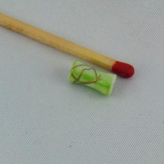 Perle longue évasée fils dorés 11 mm