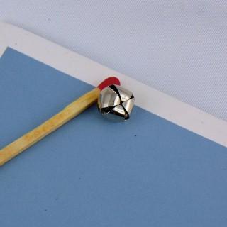 Cascabel miniatura metal muñeca 8 mm.