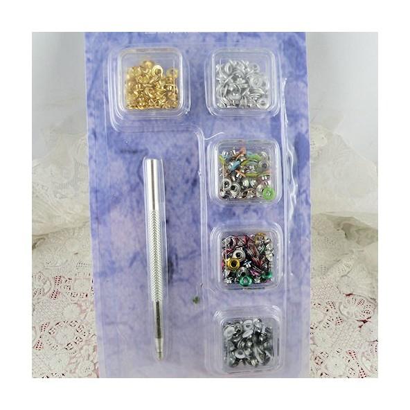 Eyelet tools 2 mms 3 mms 4 mms