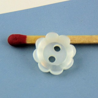 Bouton mercerie fleur forme coupe 11 mm.