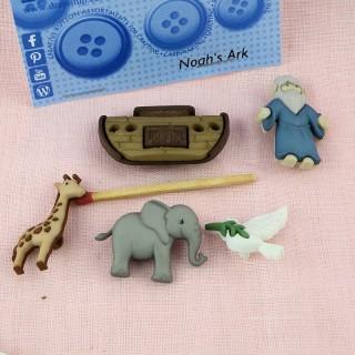 Boutons Dress it up animaux arche de NOE