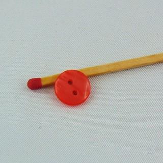 Boutons mercerie rond nacré deux trous 1 cm.