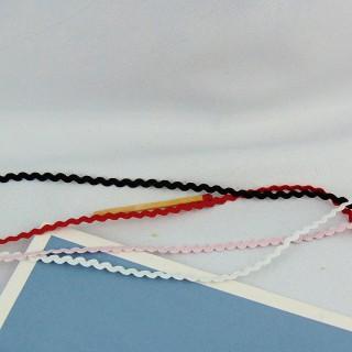 Elastic Narrow Rick Rack 4 mms
