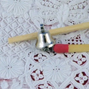 Cloche clochette miniature poupée 9 mm.