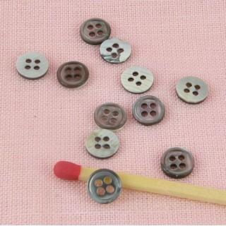 Botones nacaran verdadero 4 agujeros 6 mm. por 10.