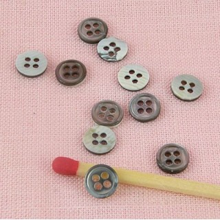 Button Mother-of-shell tiny mini 4 holes