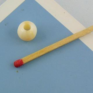 Perles ronde marbrée 7 mm.