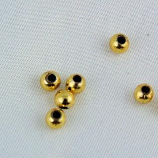 Schillernde runde, irrisierte Glasperlen 3 mm.