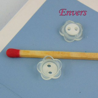Button notions flower matte 1 cm,