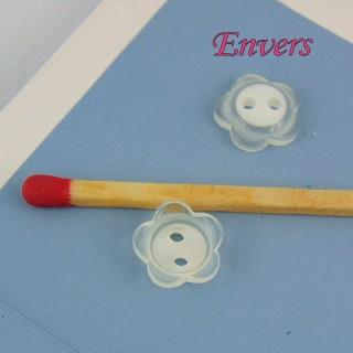Button notions flower matte 1 cm,