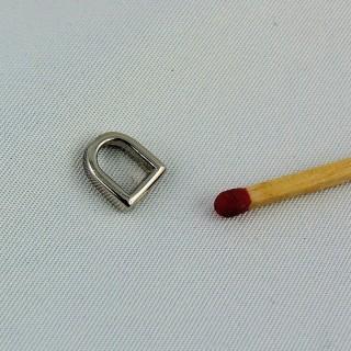 Demi anneau D métal corset 7 mm.