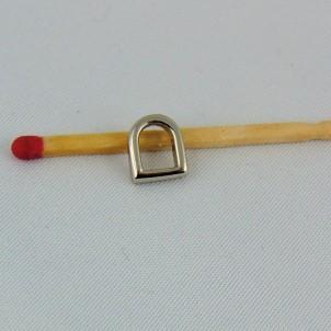 D Buckle mini, tiny half ring corset making, 9 mms