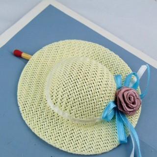 Sombrero de paja con llanta 7 cm.