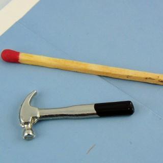 Martillo de herramienta miniatura 3 cm 1/12