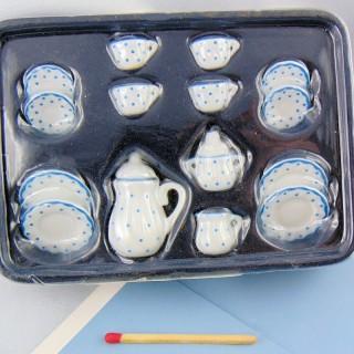 Kaffee-Service Miniaturhaus poupée1/12 EME.